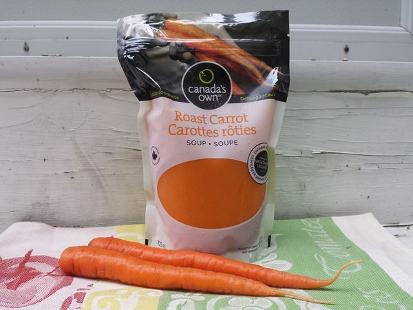 Canada's Own Roast Carrot Soup is created with carrots from Carron Farms of Bradford, Ontario