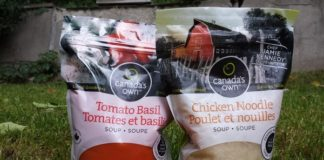 Canada's Own Soups are prepared from ingredients from local farmers.