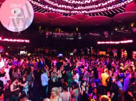 Crowd at Boobyball at Rebel Night Club in Toronto