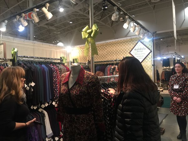 Mandala Design dresses at Booth N30 at One of a Kind Christmas Craft Show in Toronto