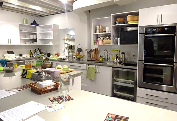Kitchen of Marni Wasserman, who teaches cooking classes in Toronto.