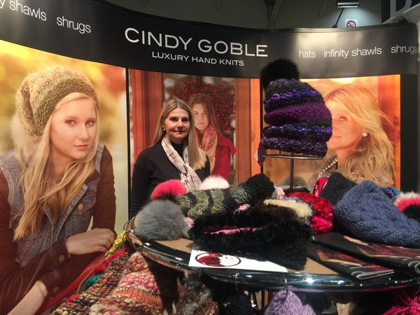 Cindy Goble Luxury Hand Knits at Booth O24 at One of a Kind Craft Show 2016 in Toronto