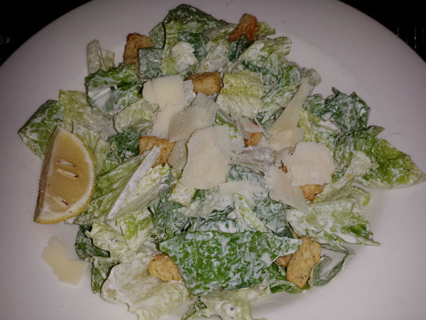 Caesar salad at the Keg Mansion in Toronto