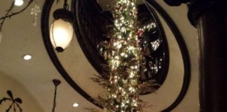 Holiday decorations at the Keg Mansion