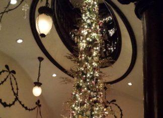 Holiday decorations at the Keg Mansion