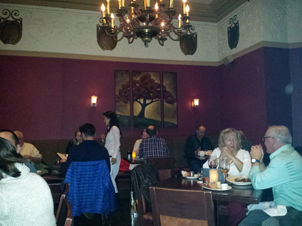 One of the dining rooms at the Keg Mansion in Toronto