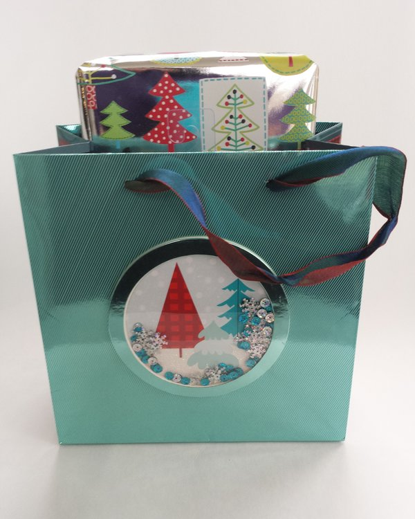 Snow Globe Medium Holiday Bag, $7.95, from Papyrus