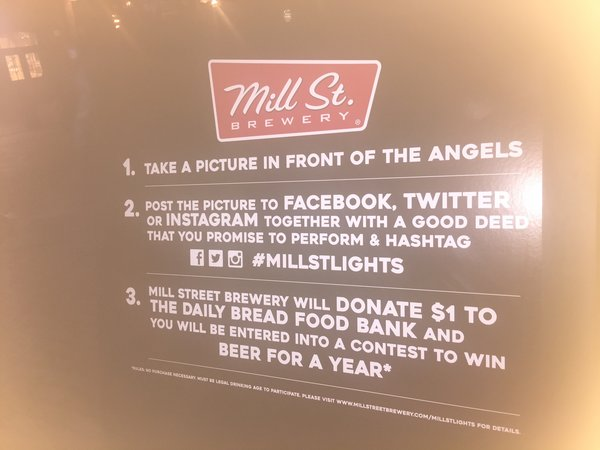 Mill Street Brewery contest at Toronto Light Festival