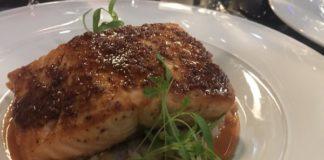 Grain Mustard Coated Salmon at Azure Restaurant for Winterlicious Menu