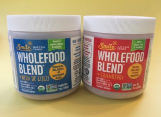Smile Natural Foods Wholefood Blend in two flavours: with Coconut and with Cranberry