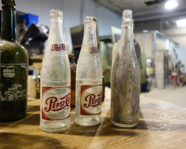 Old bottles found by Chris Cavan of City Wide Group Basement Waterproofing