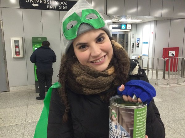 Second Harvest Hero at Toronto subway, photo credit Second Harvest Queen's Park 2016