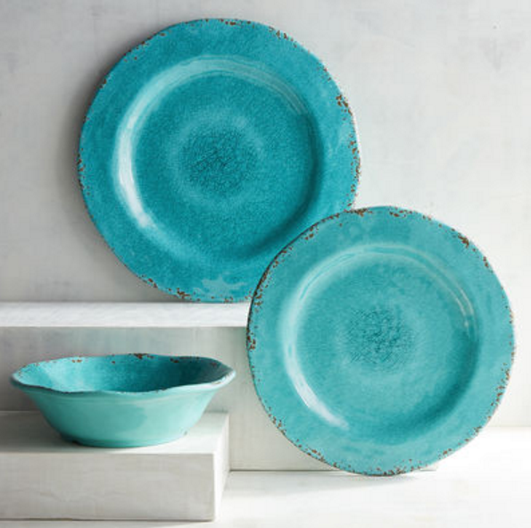 Carmelo Collection Aqua Melamine Dinnerware from Pier 1 Imports