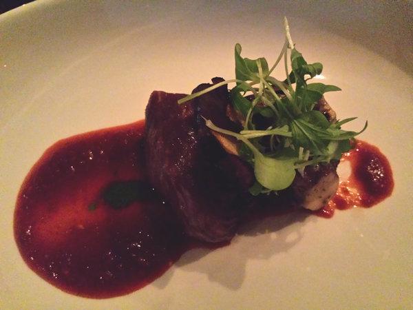 A5 Kobe Beef Maitake XO Sauce at Figures Restaurant Toronto