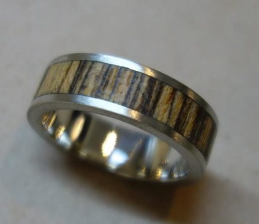 Ring in 10k gold and Bocote, $1,250 plus tax by Sabrina Melendez