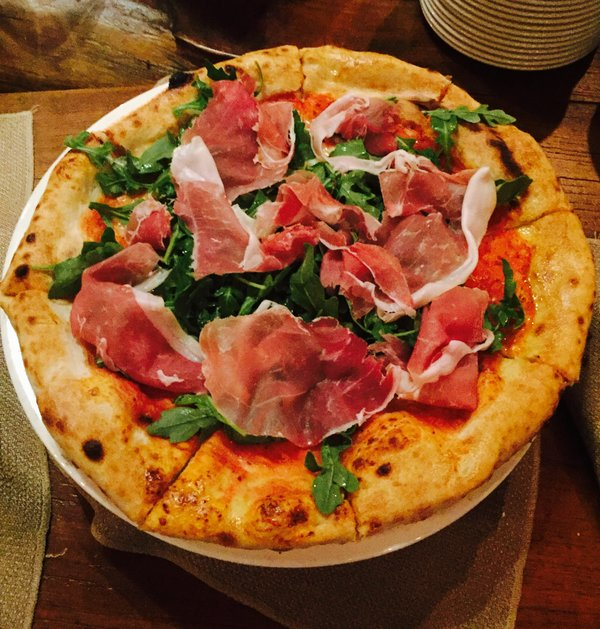 Pizza at Extraordinary Italian Taste at Cibo Wine Bar
