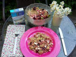Beet, Quinoa, Avocado and Feta Salad