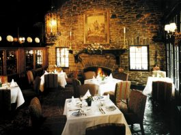 Dining room at The Old Mill in Toronto
