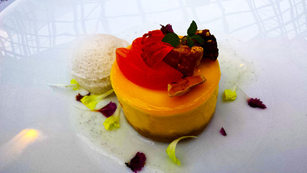 White Chocolate Cheesecake at Summerlicious at Azure Restaurant