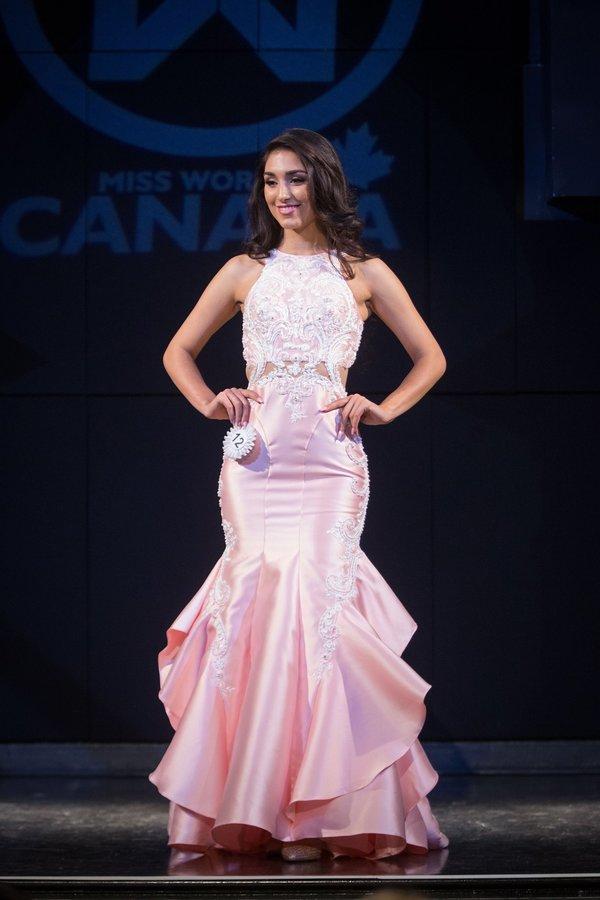 Lia Fallah at Miss World Canada 2017