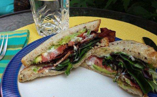 B.L.T. Sandwich at Lazy Daisy's Cafe on Gerrard St. E. in Toronto