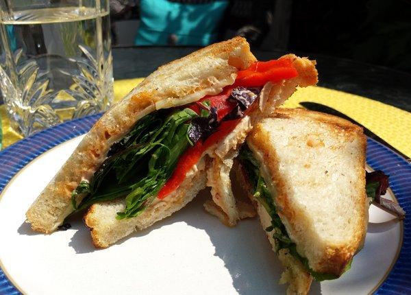 Chicken Fiesta Sandwich at Lazy Daisy's Cafe on Gerrard St. E.