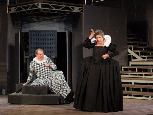 Robert Persichini, Diane D'Aquila in King Lear at Shakespeare in High Park, photo credit Cylla von Tiedemann