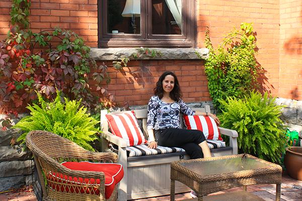 Outdoor patio at The Gilmour Inn, Ottawa