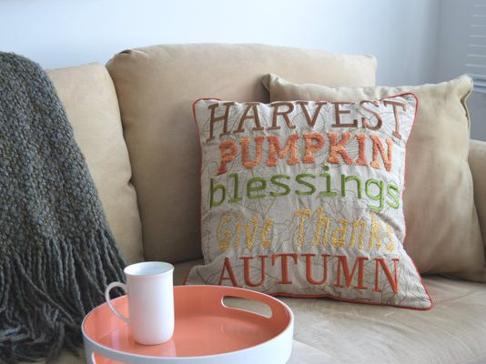 Harvest Pumpkin Blessings Pillow from Pier 1 Imports