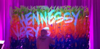 Artist JonOne at Hennessy launch party in Toronto