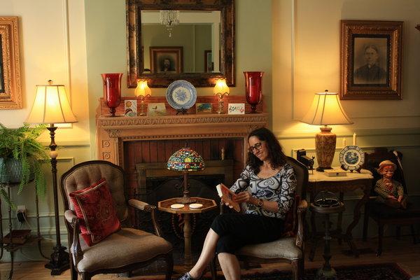 Sitting in the living room of The Gilmour Inn, Ottawa