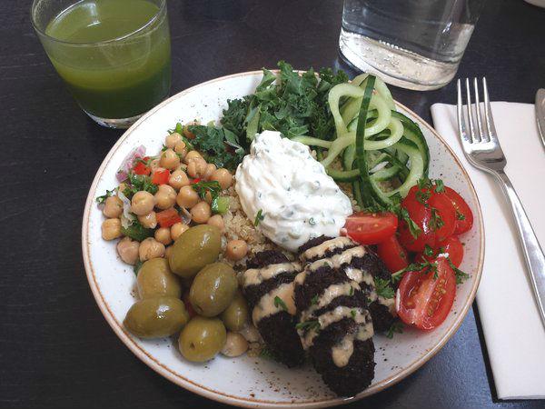 Tel Aviv Bowl at The Green Wood Restaurant