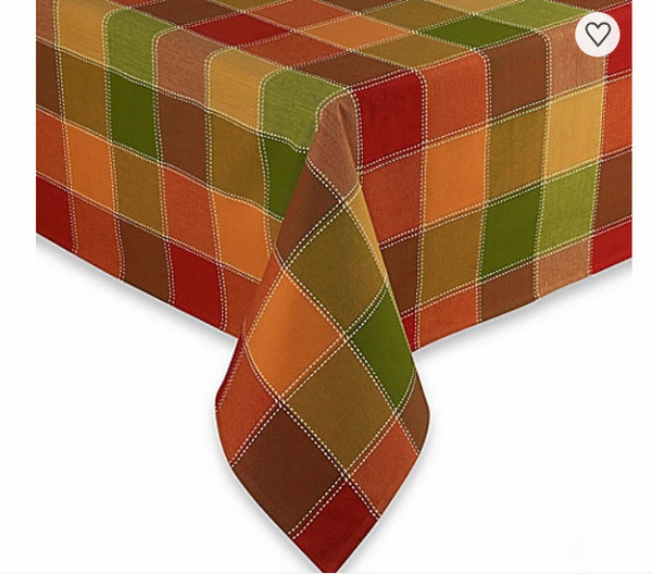 Autumn Check Tablecloth at Bed, Bath & Beyond