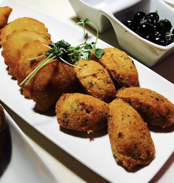 Cod cakes and shrimp fritters at Table to Share