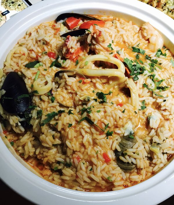 Seafood rice at Table to Share event at Lisbon by Night