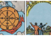 Wheel of Fortune and 10 of Cups from Rider Waite Tarot Deck