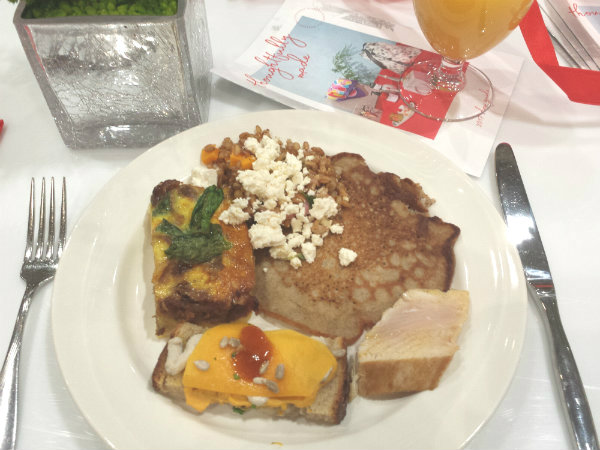 Breakfast prepared by Executive Chef Matt Simpson of Montecito Restaurant
