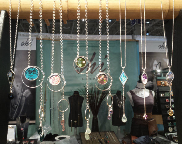 Necklaces from Shi Studio at the One of a Kind Christmas Show 2017 in Toronto