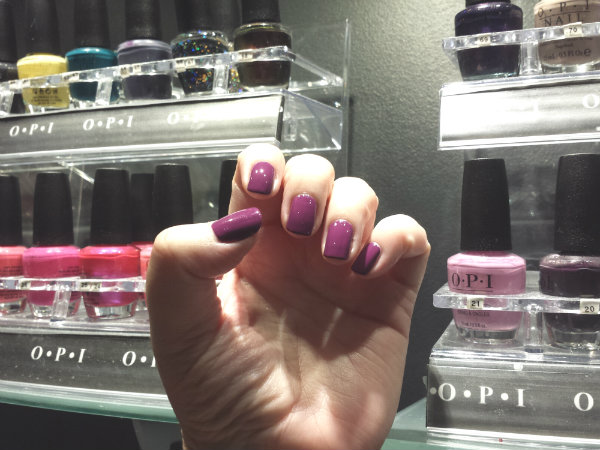Spa Manicure with OPI nail polish in Pamplona
