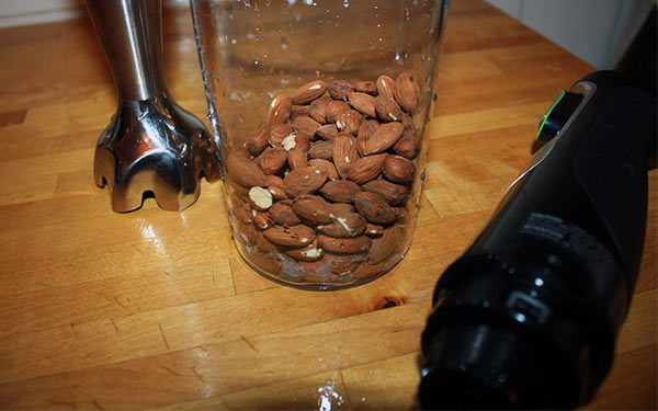Almonds ready for the Braun MultiQuick 9 Hand Blender