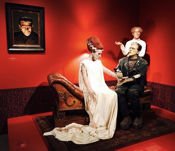 Frankenstein corner at Guillermo del Toro exhibit at Art Gallery of Ontario