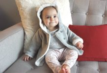 Sofia is ready for cold days in her Carter's 2 Piece Sherpa Lined Jacket and leggings set, $36, from Carter's I OshKosh