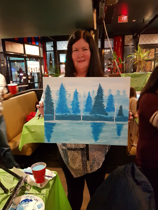 Me with my masterpiece from Paint Nite