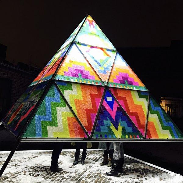 Gummy Bear Pyramid by Dicapria at Toronto Light Festival