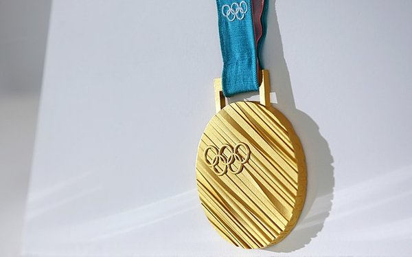 Gold medal of the Winter Olympics 2018, photo by Korea.net / Korean Culture and Information Service (Photographer name), CC BY-SA 2.0, https://commons.wikimedia.org/w/index.php?curid=62624635