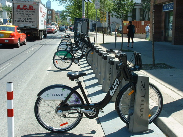 BIXI Bike at College and Augusta