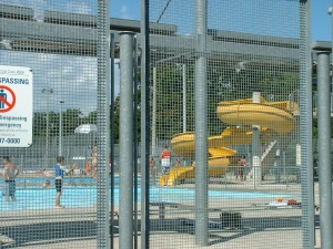 Slide at High Park Outdoor Swimming Pool