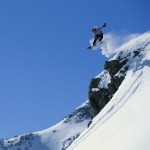 Snowboarder Performing Jump by Spit-Fire