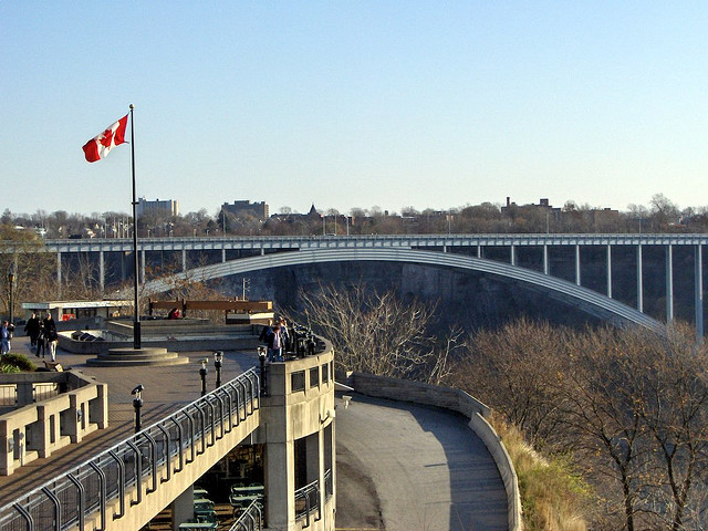 Rainbow Bridge from Canada to U.S. at Niagara Falls
