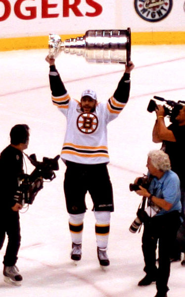 Boston Bruins' Milan Lucic and the Stanley Cup by Ashley Bayles